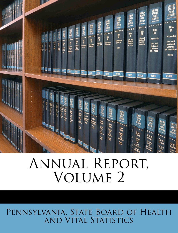 Annual Report, Volume 2 pdf