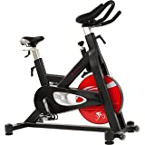 Sunny Health & Fitness Evolution Pro Magnetic Belt Drive Indoor Cycling Bike, High Weight Capacity, Heavy Duty Flywheel