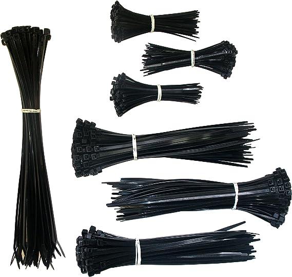 XCZMZ Attaches zipp/ées pour c/âbles en Fil Noir Nylon r/ésistant aux intemp/éries UV-3mm/_x/_150mm 1000/_pcs