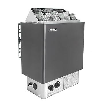 Estufa sauna con control integrado y protección de sobrecalentamiento(4.5KW Excluyendo piedras): Amazon.es: Hogar
