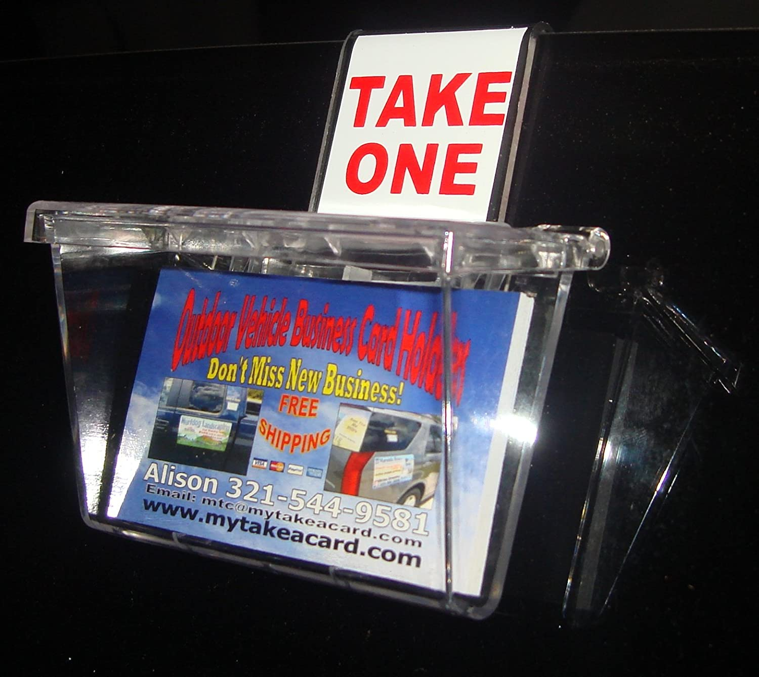 Amazon Marketing Holders Outdoor Business Card Holder Clear