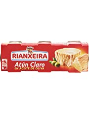 Rianxeira Atún Claro en Aceite de Oliva - Pack de 3 x 80 g - Total: 240 g