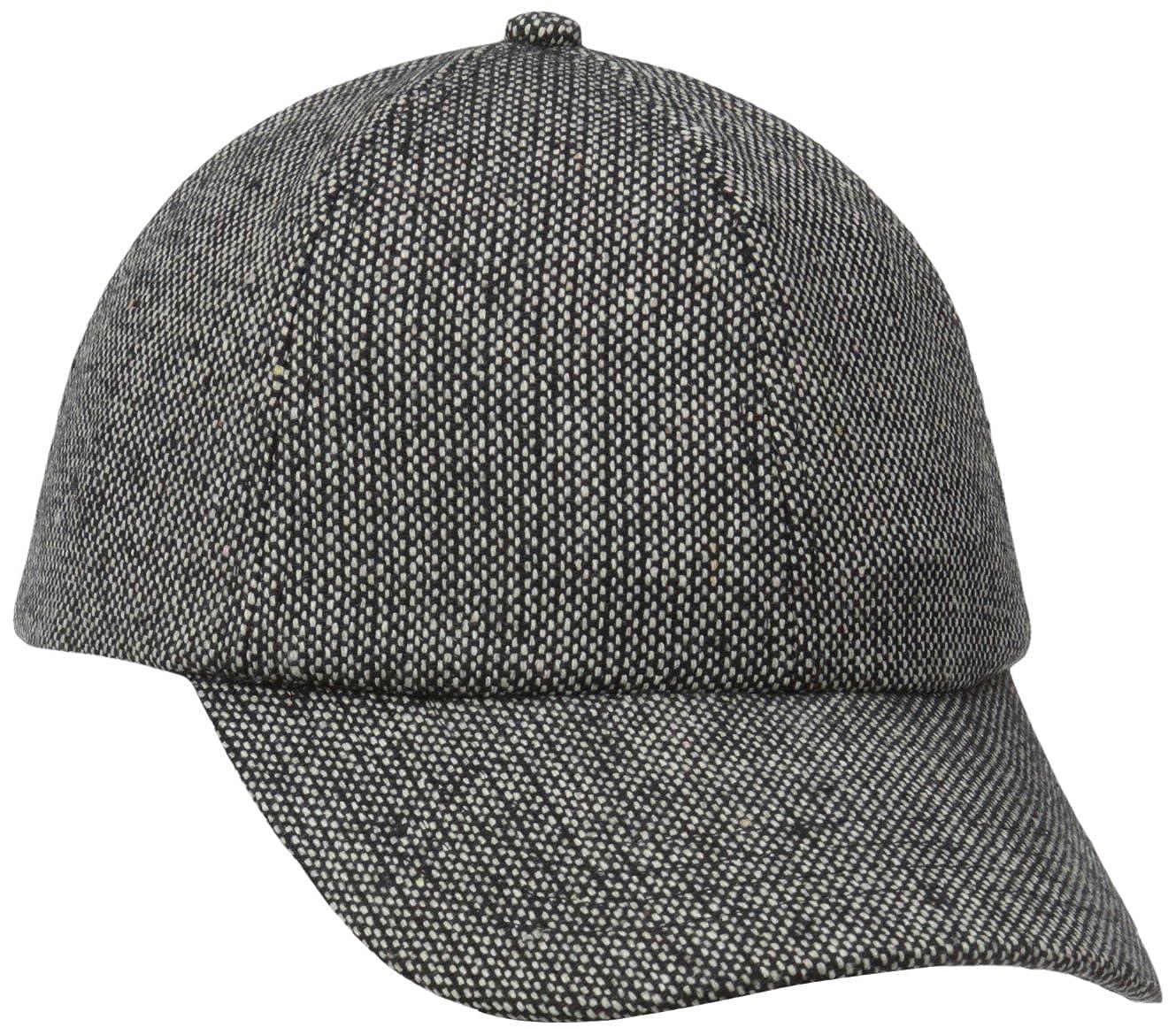 San Diego Hat Company Womens Tweed Cap Black One Size cth3702