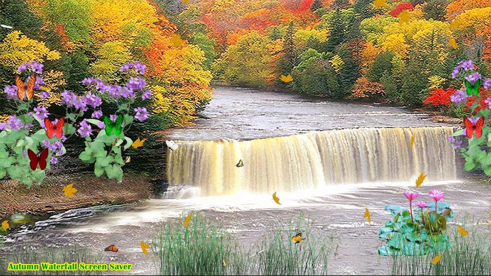 Autumn Waterfall Screen Saver [Download]