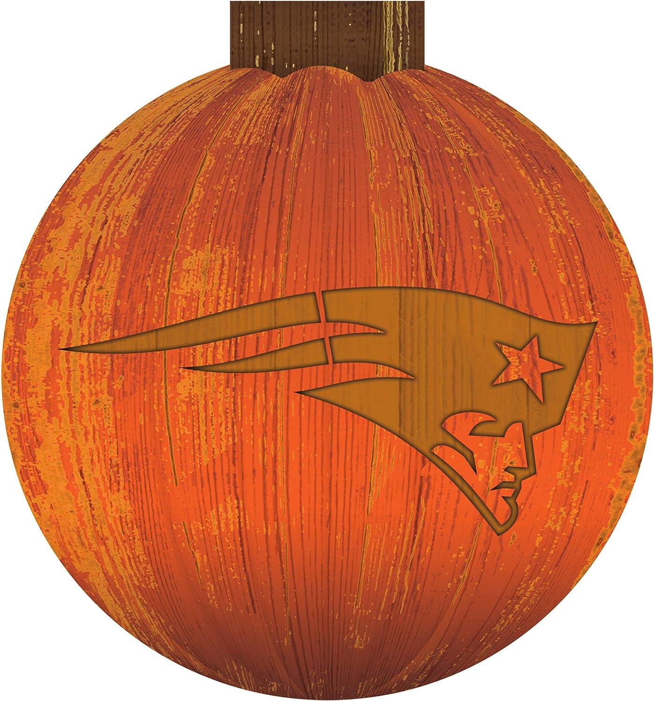12 inch Team Color NFL New England Patriots Unisex New England Patriots 12 in Halloween Pumpkin Sign