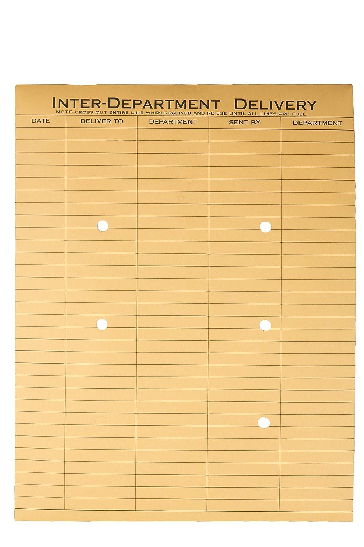 Quality Park 63560 Quality Park String-Tie Interoffice Envelope, Printed 2-Side, 10x13, Kraft, 100/Ctn