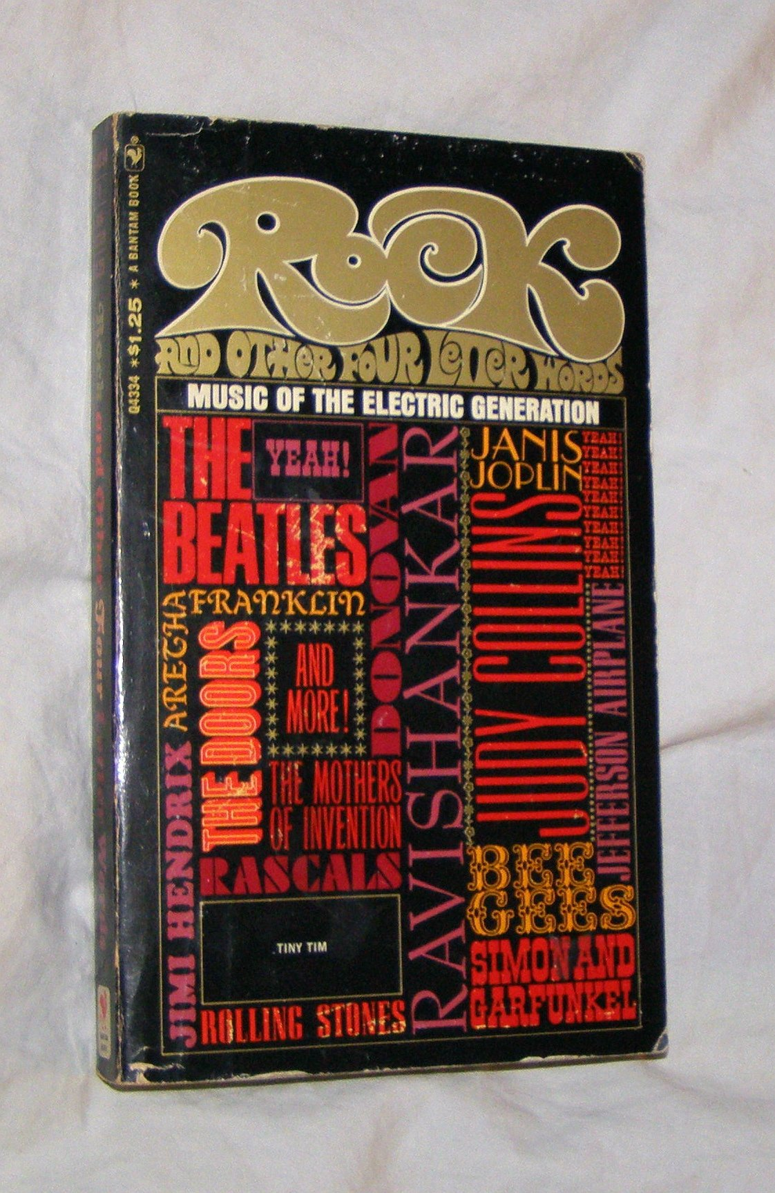 Rock Music And Other Four Letter Words Music Of The Electric Generation Paperback 1968