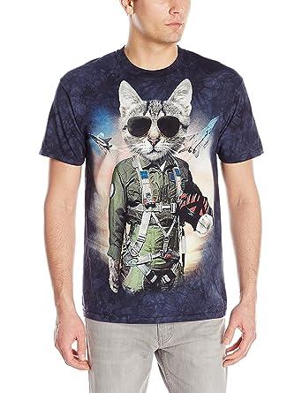 e9b3305c The Mountain Tom Cat Adult T-Shirt, Blue, Small