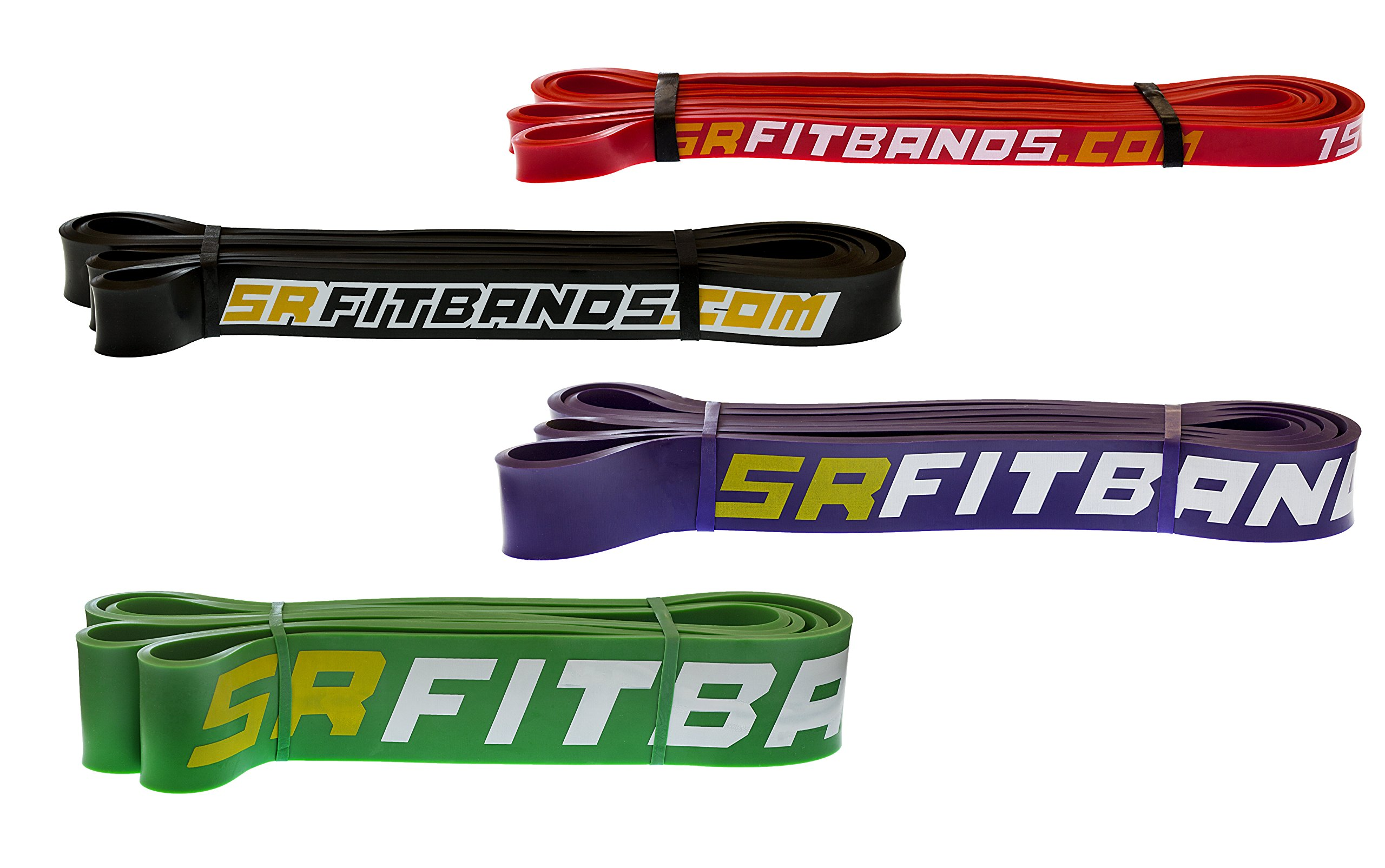 SR Fit Resistance Band   Legacy band without Attachment Loop - Perfect for Pull up Assist, Stretching, Powerlifting or Bodybuilding Workouts - Single Resistance Band - 41'' Loop