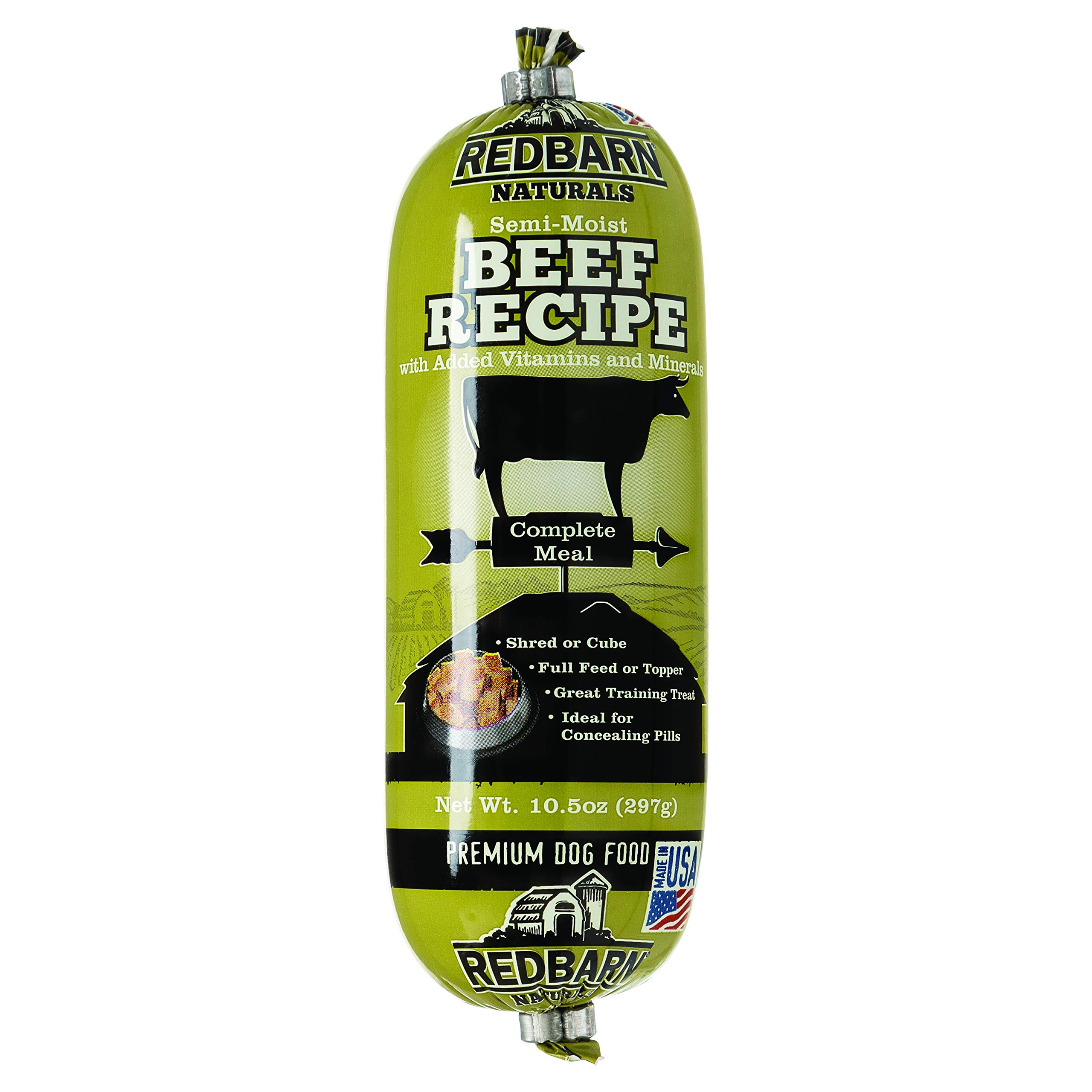 Redbarn Beef Dog Food Roll, Naturals, 10.5 Ounce, 15 Pack by Redbarn Pet Products