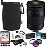 Tamron 18-400mm F/3.5-6.3 DI-II VC HLD All-In-One Zoom For Nikon APS-C Digital SLR Cameras, Sandisk 32GB, Polaroid Filter Kit, Ritz Gear Lens Pouch, Memory Card Reader and Accessory Bundle