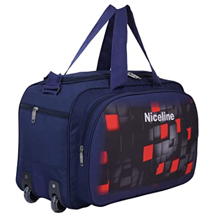 Nice Line Waterproof Polyester Printed Lightweight 40 L Luggage Travel Duffel  Bag with 2 Wheels(Expandable)-Blue 3D  Amazon.in  Bags cda6069e53447