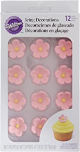 """Wilton W101490 Royal Icing Decorations (12 Pack), 1"""", Petal Pink"""