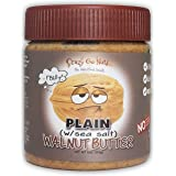 Crazy Go Nuts Walnut Butter - Plain w/ Sea Salt, 9 oz (1-Pack) - Healthy Snacks, Keto, Vegan, Low Carb, Gluten Free, Superfoo
