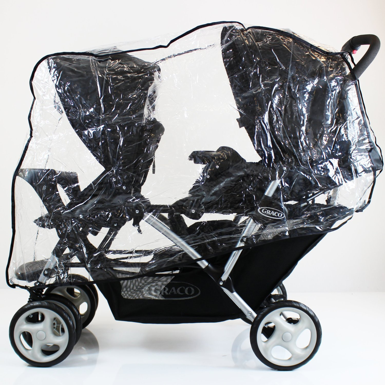 GRACO RAIN COVER STADIUM DUO TWIN TANDEM DOUBLE RAINCOVER (NEUTRAL) Baby Travel® Tandem Type RC