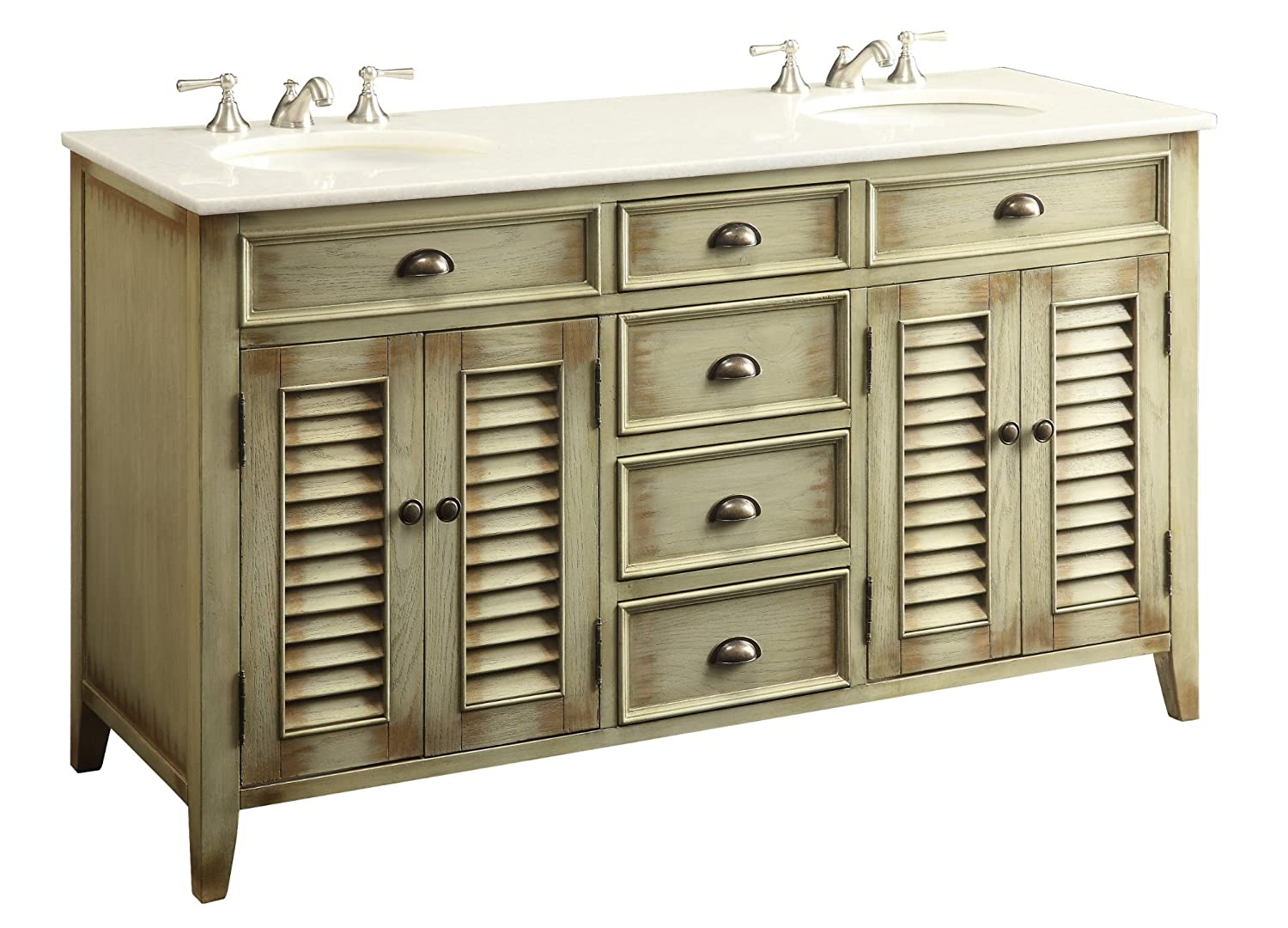 Cottage Look Abbeville Double Sink Bathroom Vanity Model
