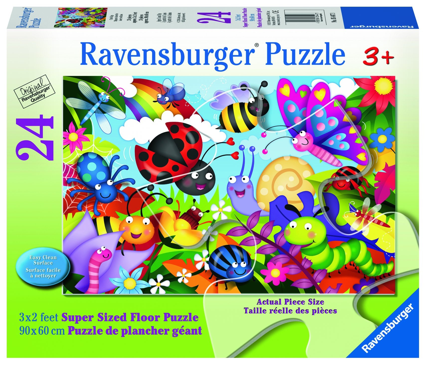 Ravensburger - Cute Bugs - 24 Piece Jigsaw Puzzle for Kids – Every Piece is Unique, Pieces Fit Together Perfectly