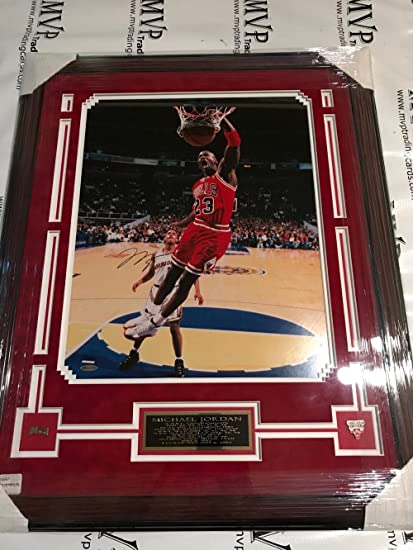 03f363b5a2e Image Unavailable. Image not available for. Color: Upper Deck Authentic  Michael Jordan 25x32 Custom Framed Autograph Chicago Bulls ...