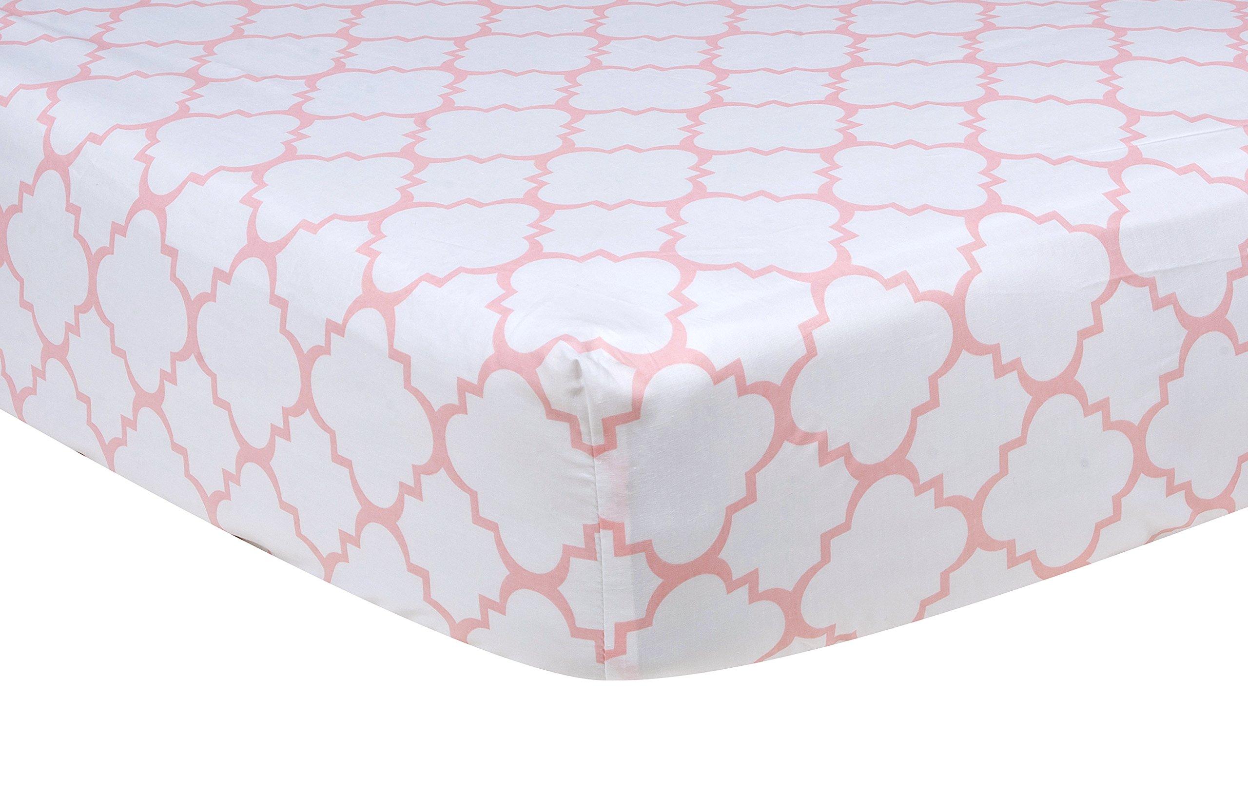 Trend Lab Pink Sky Quatrefoil Crib Sheet
