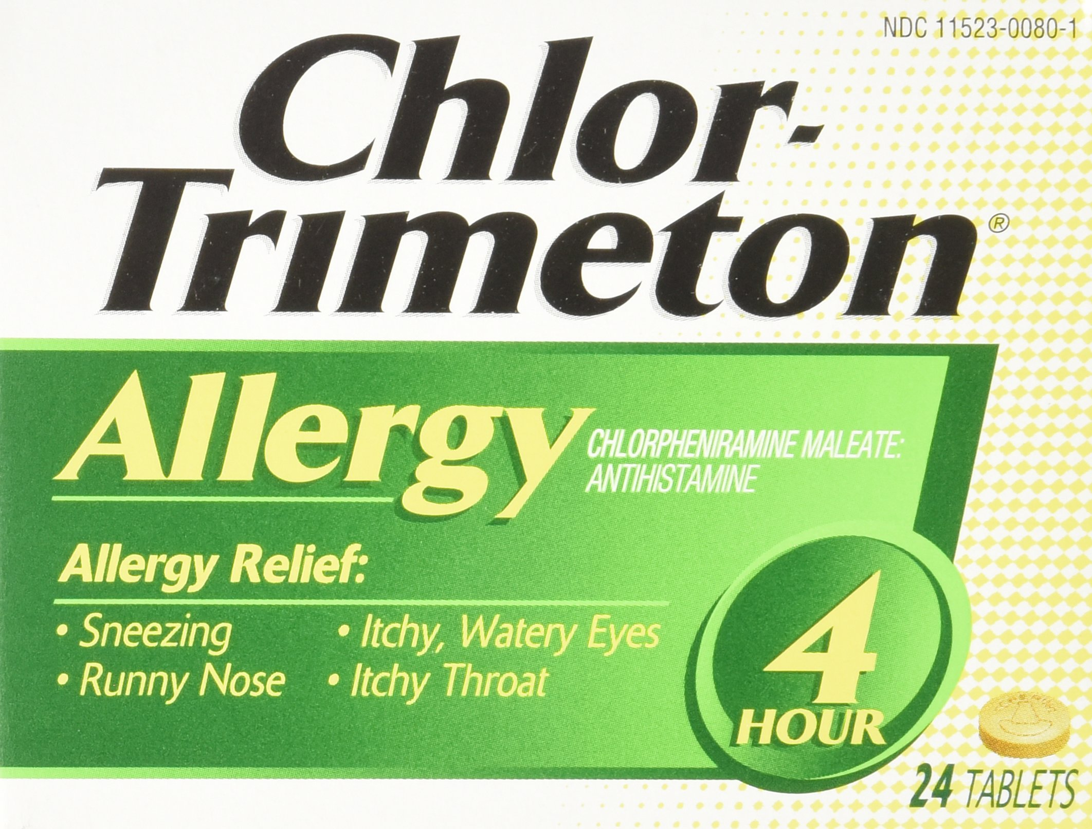 Chlor-Trimeton Allergy 4hr Tablet, 24-count Boxes (Pack of 3) by Chlor-Trimeton