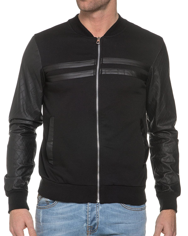 BLZ jeans - Zipped Sweat Vest Black Bi Material
