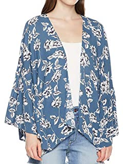 8fda81704 Moss Rose Women's Kimono Loose Cardigan Beach Cover Up with Floral Print