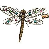 east2eden Dark Metal Wall Art Hanging Dragonfly