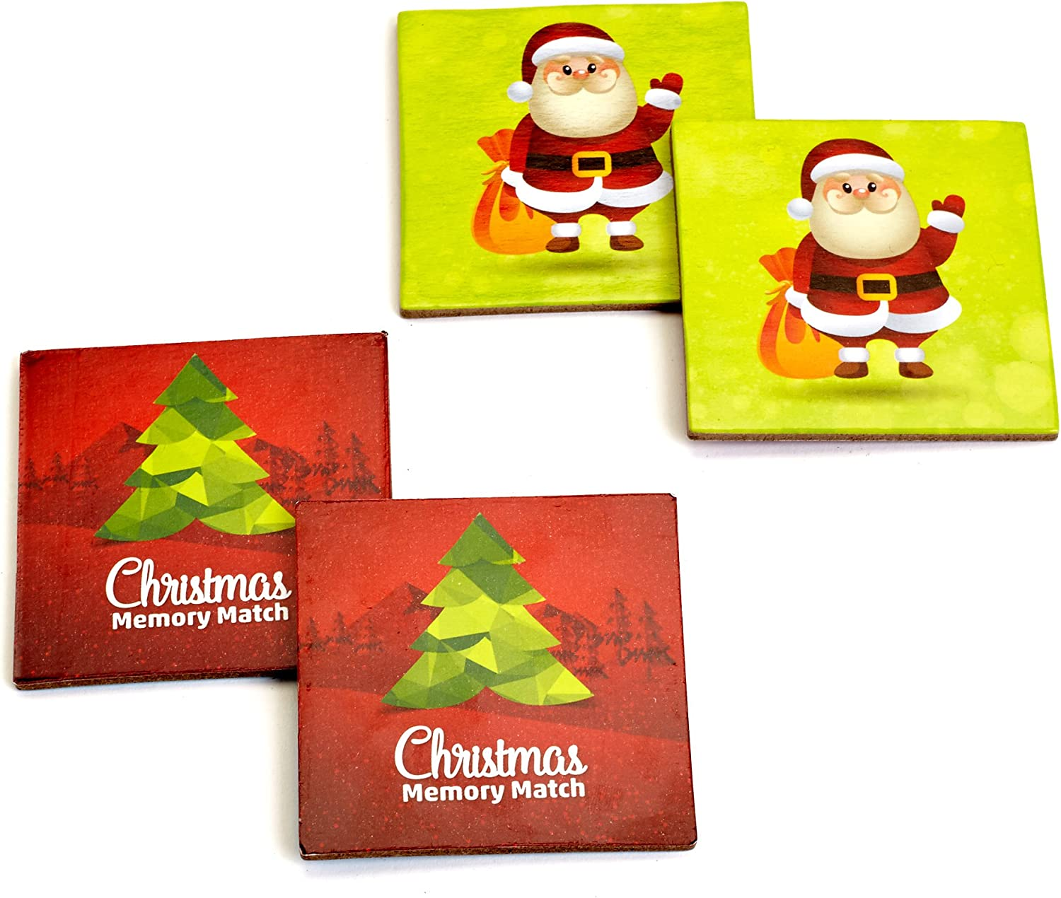 Amazon Com Mind Tools Christmas Educational Memory Match Game For Toddler Preschool And Kids Great Memory Matching Card Games For Recognition Memory Skills Practice 48 Durable Tiles Toys Games