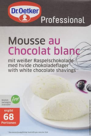 Dr Oetker Professional Mousse Au Chocolat Blanc Mit Weißer