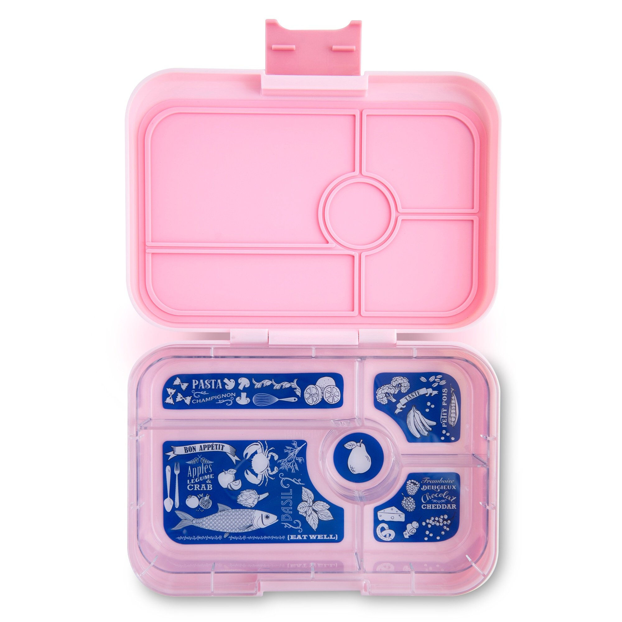 YUMBOX TAPAS Larger Size (Amalfi Pink) Leakproof Bento lunch box for Adults, Teens & Pre-teens