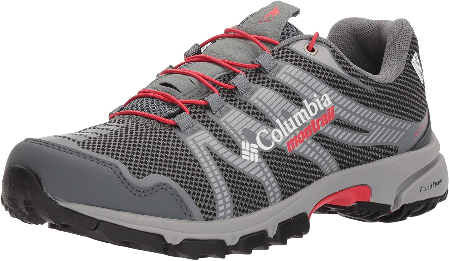 Columbia Women s Mountain Masochist IV Outdry Trail Running Shoe, Graphite, red Camellia, 10 B US