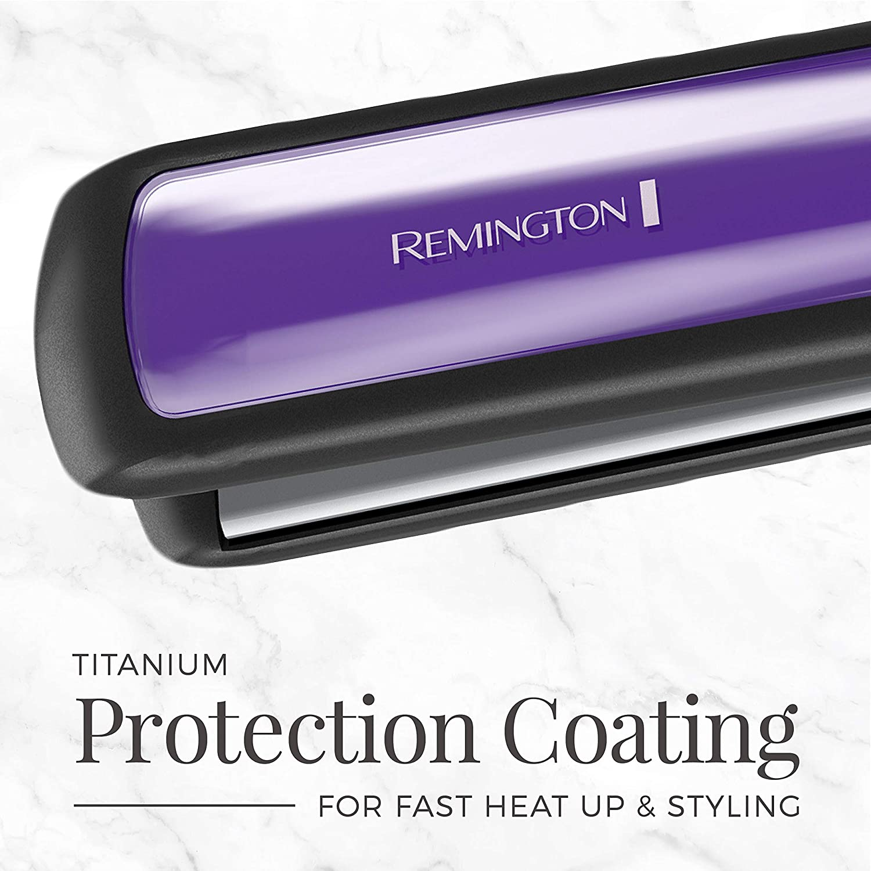 Professional Hair Straightener, Anti-Static Flat Iron with Floating Ceramic Plates - Purple