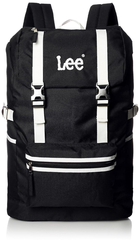 [リー] リュック 軽量 Leeロゴ刺繍 フラップ型 320-4800 B077D4TM1K ブラックボディ×ホワイト ブラックボディ×ホワイト