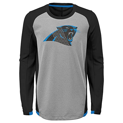 72745ea3 Outerstuff NFL Carolina Panthers Kids & Youth Boys Mainframe Performance  Tee Black, Kids Small(