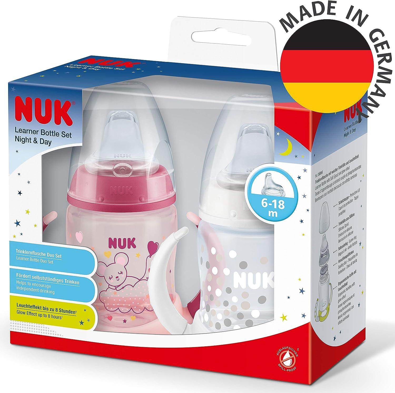 150 ml Sfiato anti-coliche Bicchiere salvagoccia collezione Senza BPA Nuk First Choice+ Learner Cup Night /& Day Rosa 6-18 mesi 270 g Beccuccio in silicone a prova di perdite