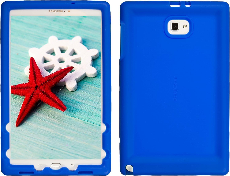 Bobj Rugged Case for Samsung Galaxy Tab A 10.1 with S Pen, SM-P580, SM-P585 - BobjGear Custom Fit - Patented Venting - Sound Amplification - BobjBounces Kid Friendly (Batfish Blue)