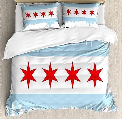 Amazon.com: Chicago Skyline Bedding Sets, City of Chicago ...