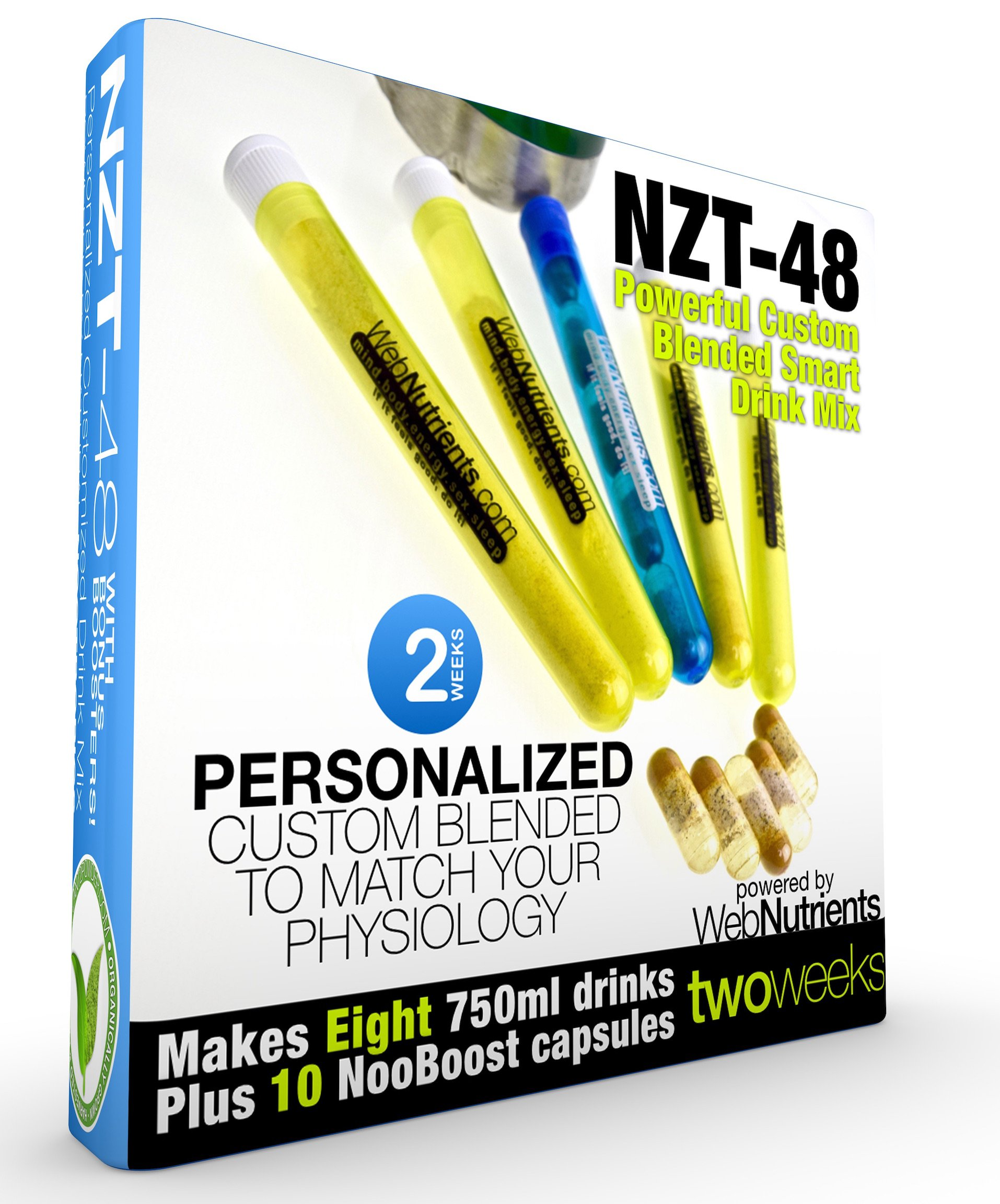 Limitless NZT-48 - 8 Drinks+10 Capsules - Powerful, Customized and Personalized Brain-Boosting Nootropic Drink Mix, with BONUS Booster Capsules. by Nootropic Stacks by WebNutrients