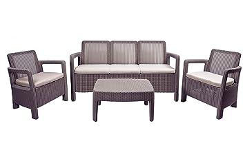 Keter - Conjunto de jardín 5 plazas Tarifa Lounge Triple con ...
