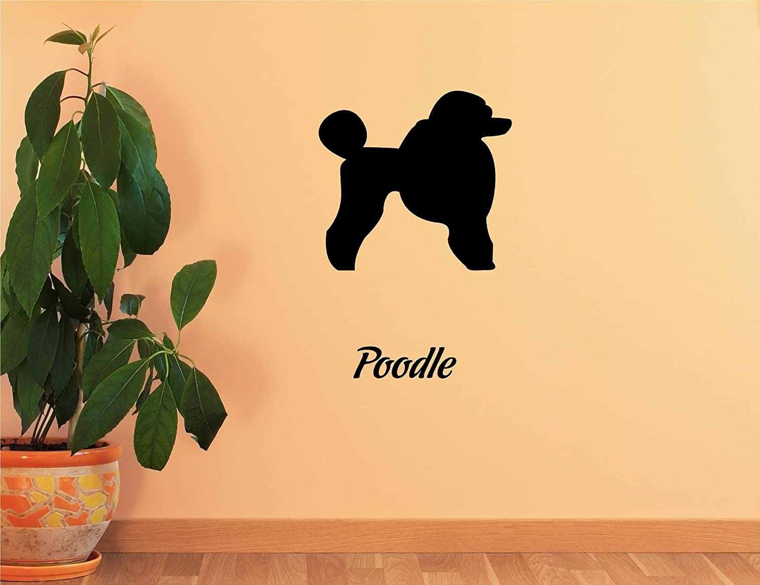 Amazon.com: Poodle Vinyl Wall Decals Quotes Sayings Words Art Decor ...