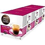 Nescafé Dolce Gusto Espresso Decaffeinato, Descafeinado, Café, Cápsulas de Café Paquete de 3, 3 x 16 Cápsulas