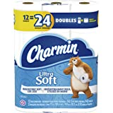 Charmin Ultra Soft 2 PLY Toilet Paper Double Rolls, 142ct (Pack of 12)