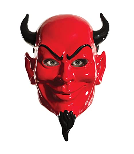 Rubies Womens Scream Queens Devil 1/2 Mask, Red, ...