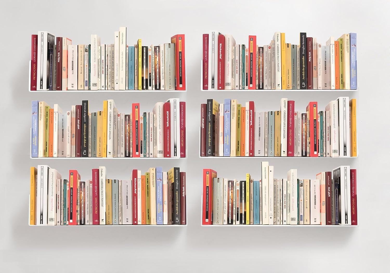 TEEbooks – Bookshelves – Set of 6 – Steel – White – 23,6 x5,9 x5,9
