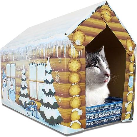 Amazon Com Aspca Acc Festive Cat Scratch House W Catnip Cat