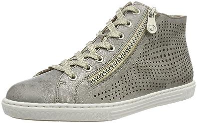 L0936Sneakers 4142 Hautes Rieker EuAmazon FemmeGrisgrey 3jcAqR54L