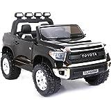 Toyota Tundra, Negro, producto BAJO LICENCIA, con mando a distancia 2.4Ghz , apertura de puertas, os asientos en cuero, Ruedas EVA Suave