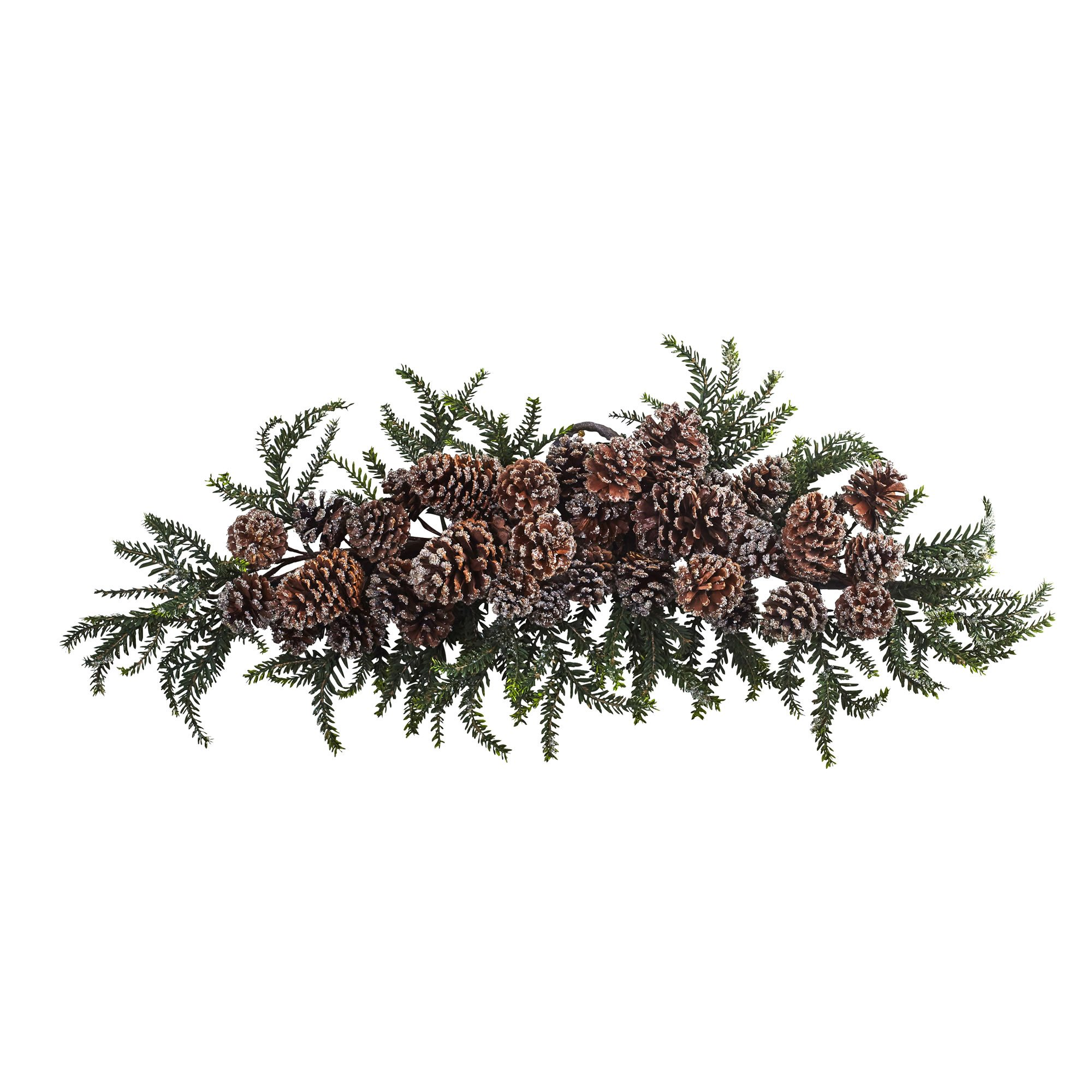 Nearly Natural Iced Pine Cone Swag, 28''