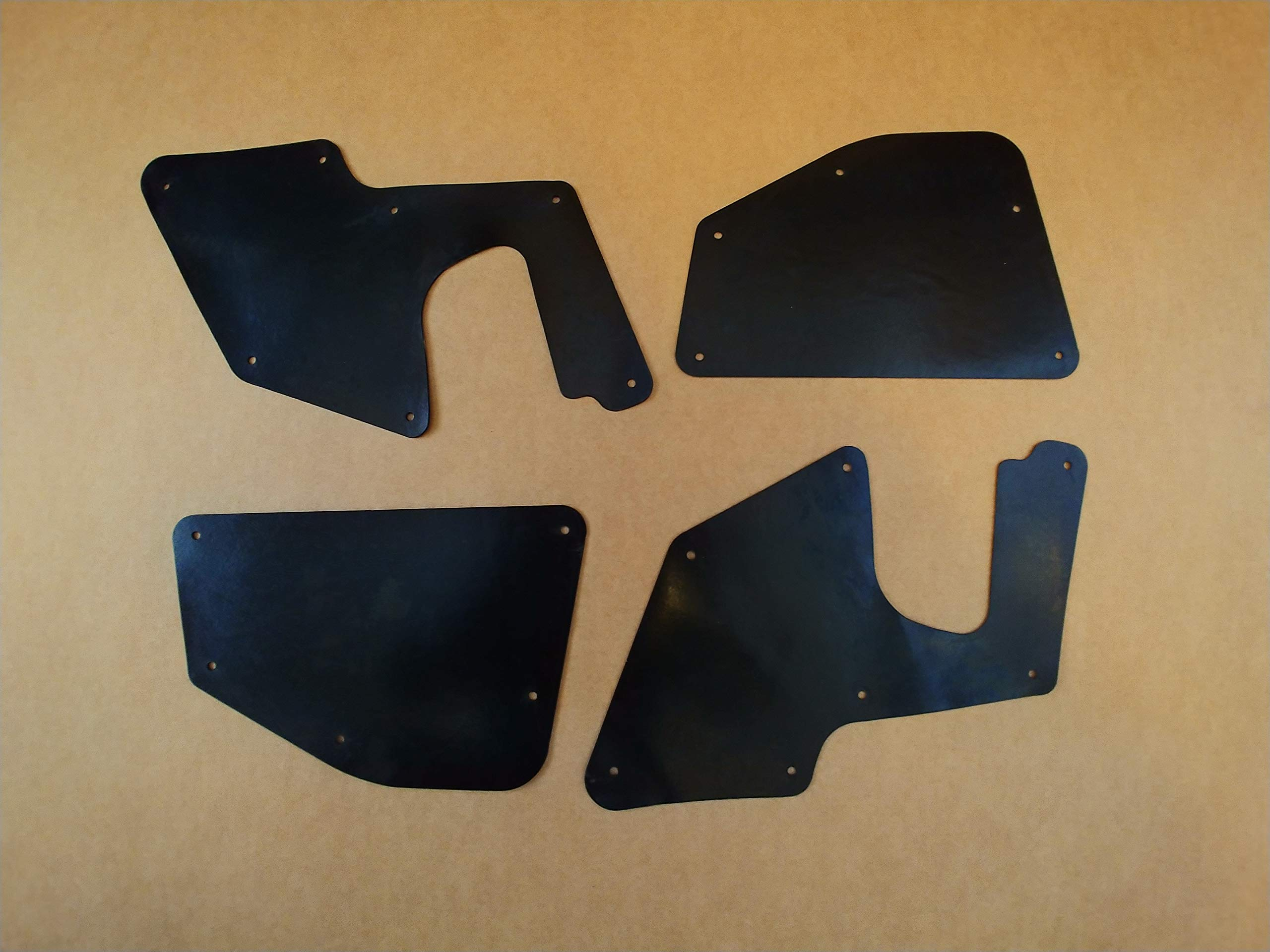Set of Four Splash Shields with Clips for 1996-2002 Toyota 4Runner (Fender Liners, Aprons, Shields, Splash Guards, Skirts, Guards, Seals, Splash Seals) R by Yota Liners (Image #1)