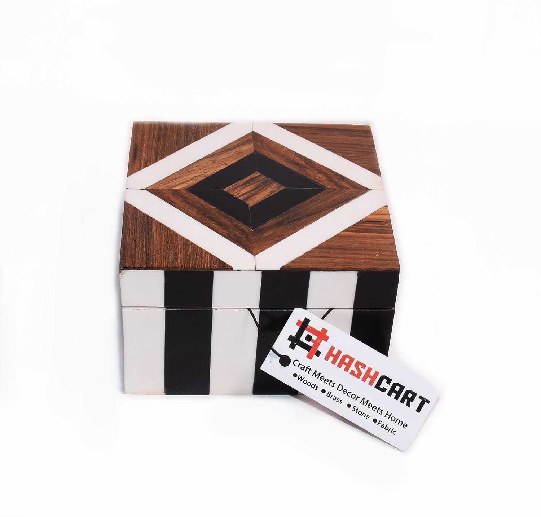 Hashcart Indian Handmade /& Handcrafted Decorative Wooden Box Organizer//Keepsake Box//Jewelry Trinket Box//Knick Knack Box for Gift